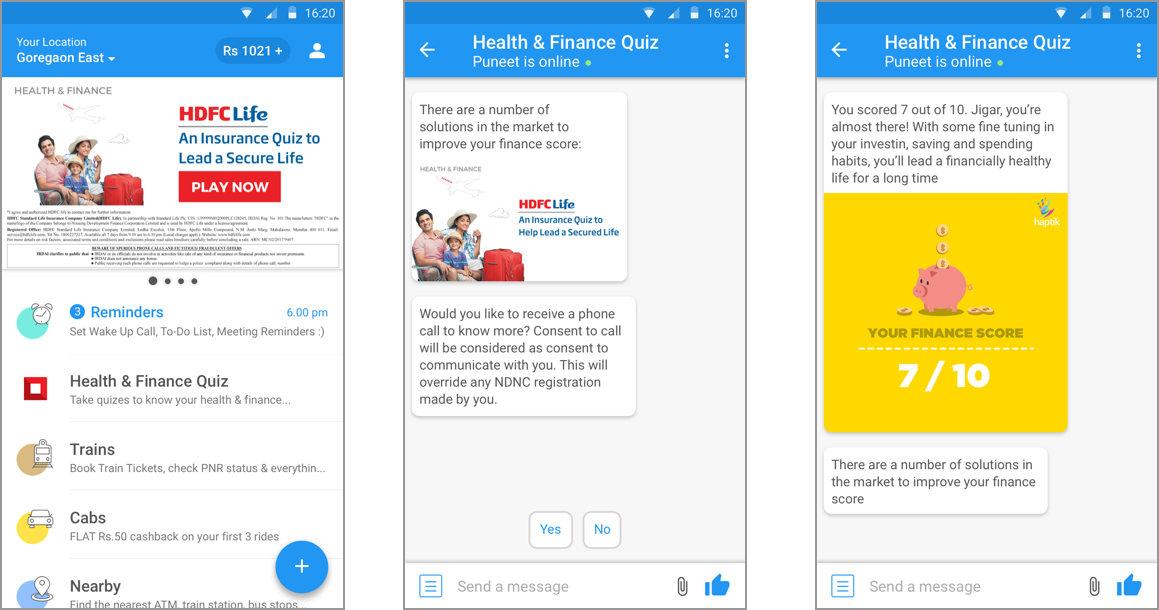 Direct-to-Consumer HDFC chatbot